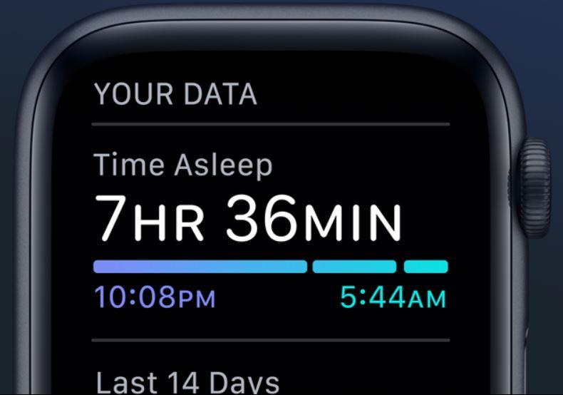 Seguimiento de la calidad del sueño con el Apple Watch
