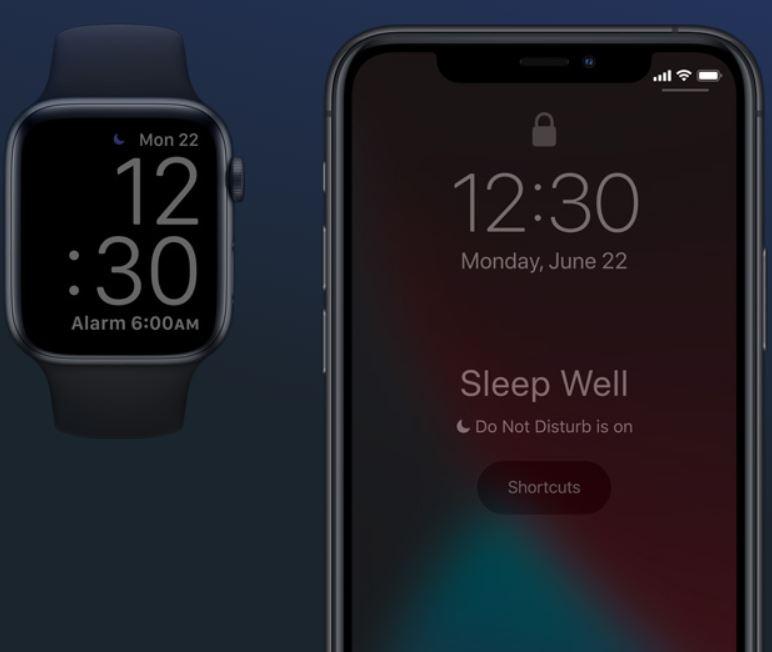 Apple Watch e iPhone en modo no molestar