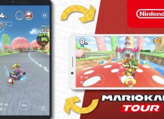 Mario Kart Tour en posición horizontal