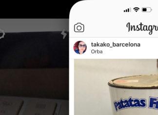Abriendo función de cámara en Instagram