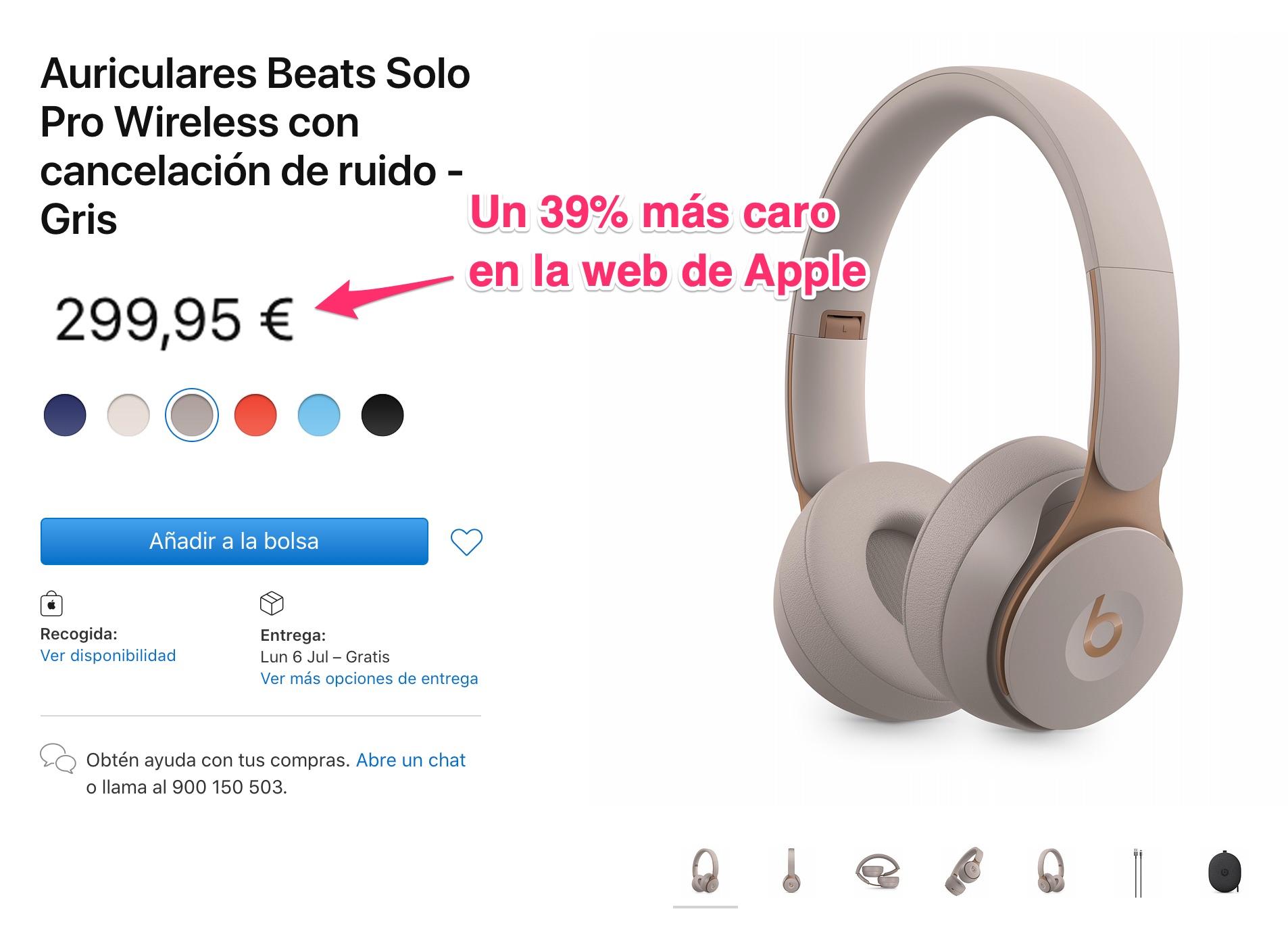 Beats Solo Pro en la web de Apple
