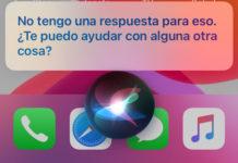 Siri no puede contestar bien