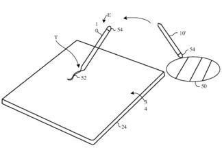 Patente para un Apple Pencil que toma el color de objetos reales