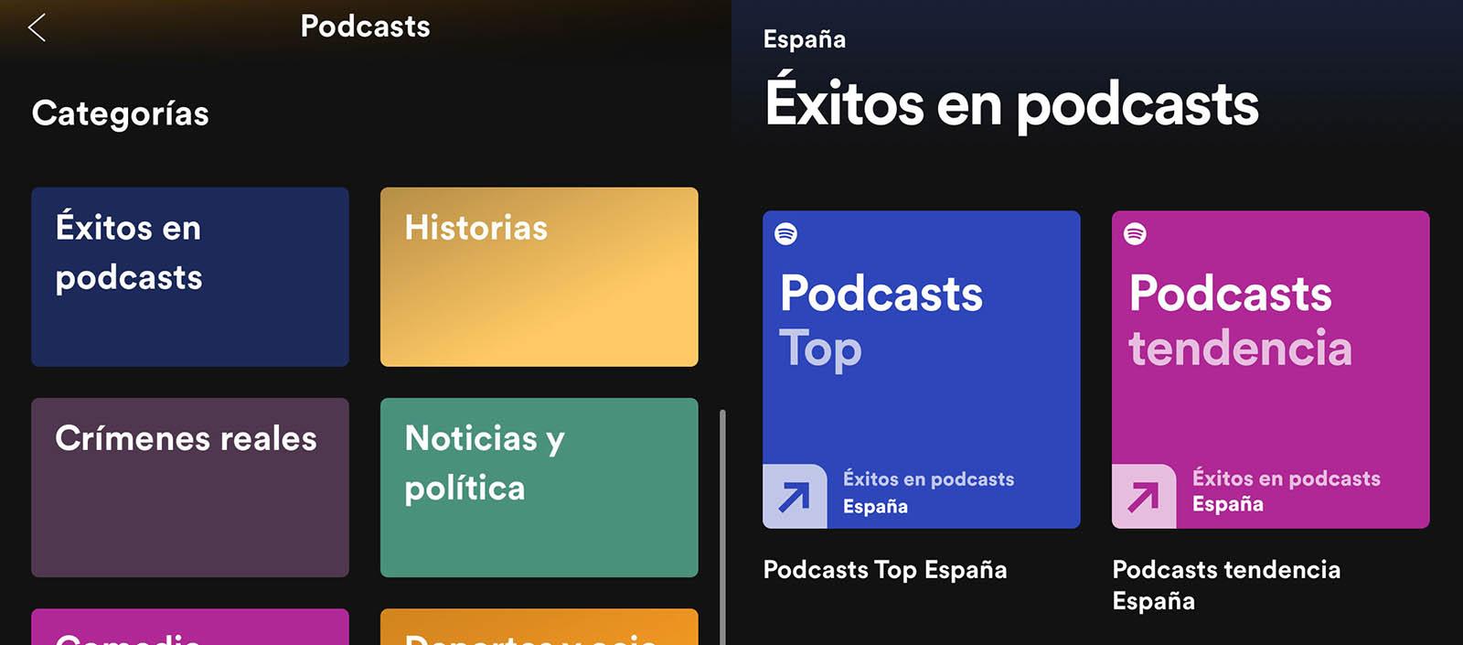 Rankings de Podcasts en Spotify