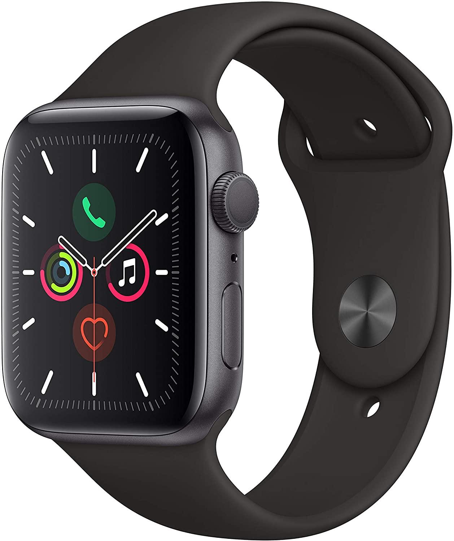 Apple Watch Series 5 de aluminio, caja de 44 mm, con correa deportiva de color gris