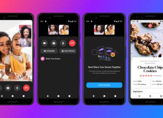 Facebook Messenger con funcionalidad de compartir pantalla