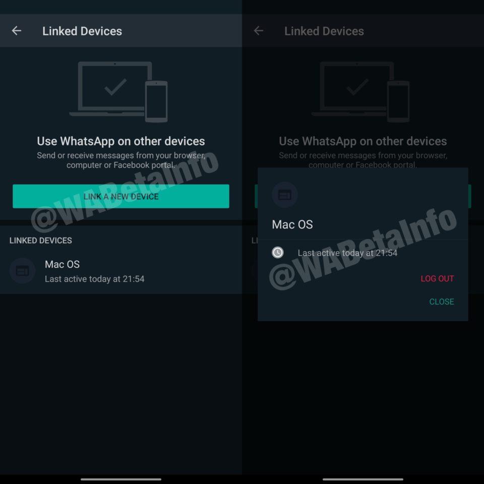 Interfaz para utilizar WhatsApp en 4 dispositivos