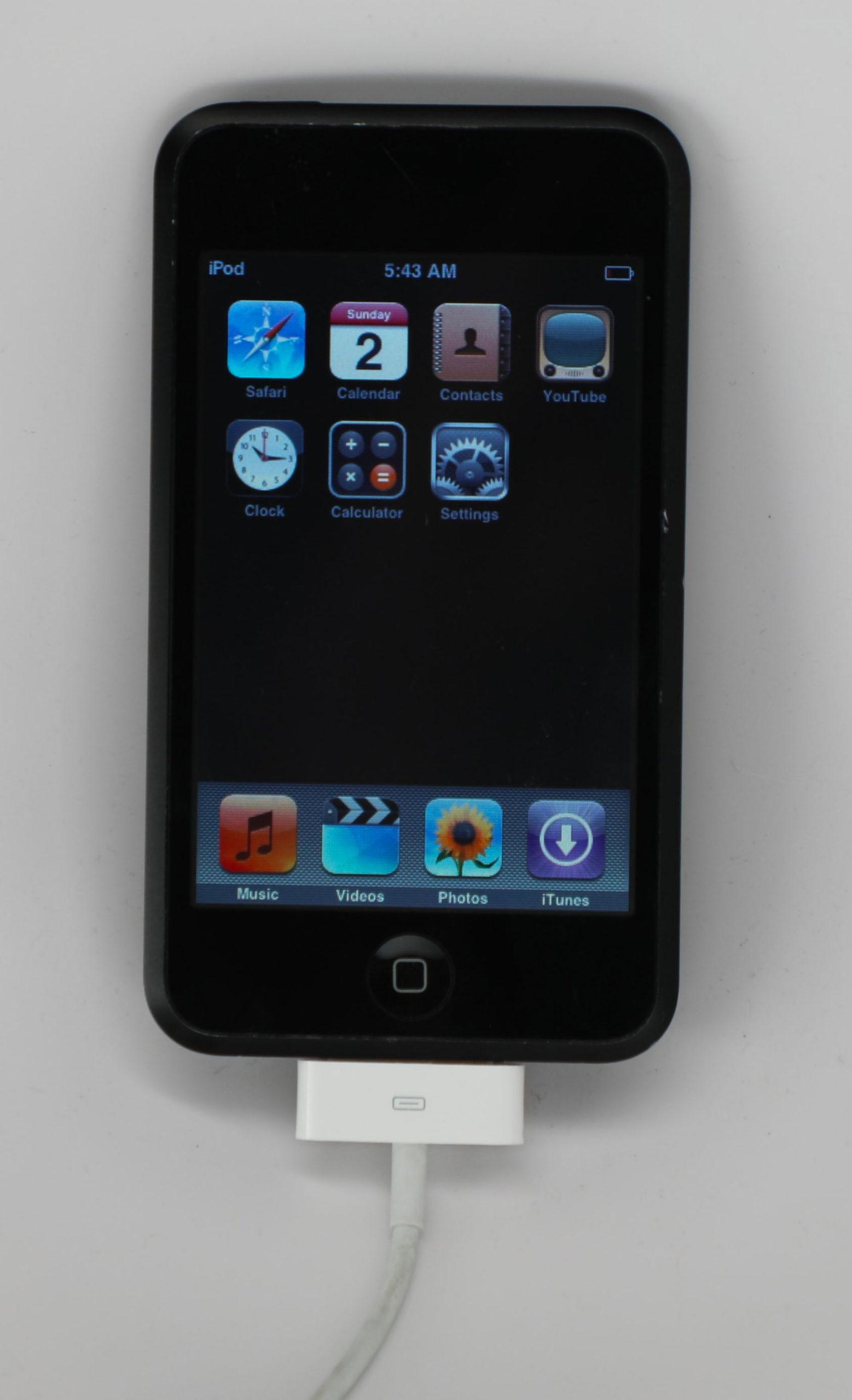 Prototipo de iPod touch de primera generación en acabado negro brillante