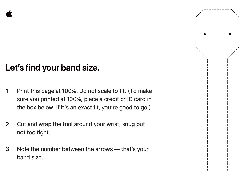 Papel para imprimir y averiguar el tamaño de la correa Solo Loop que hay que comprar