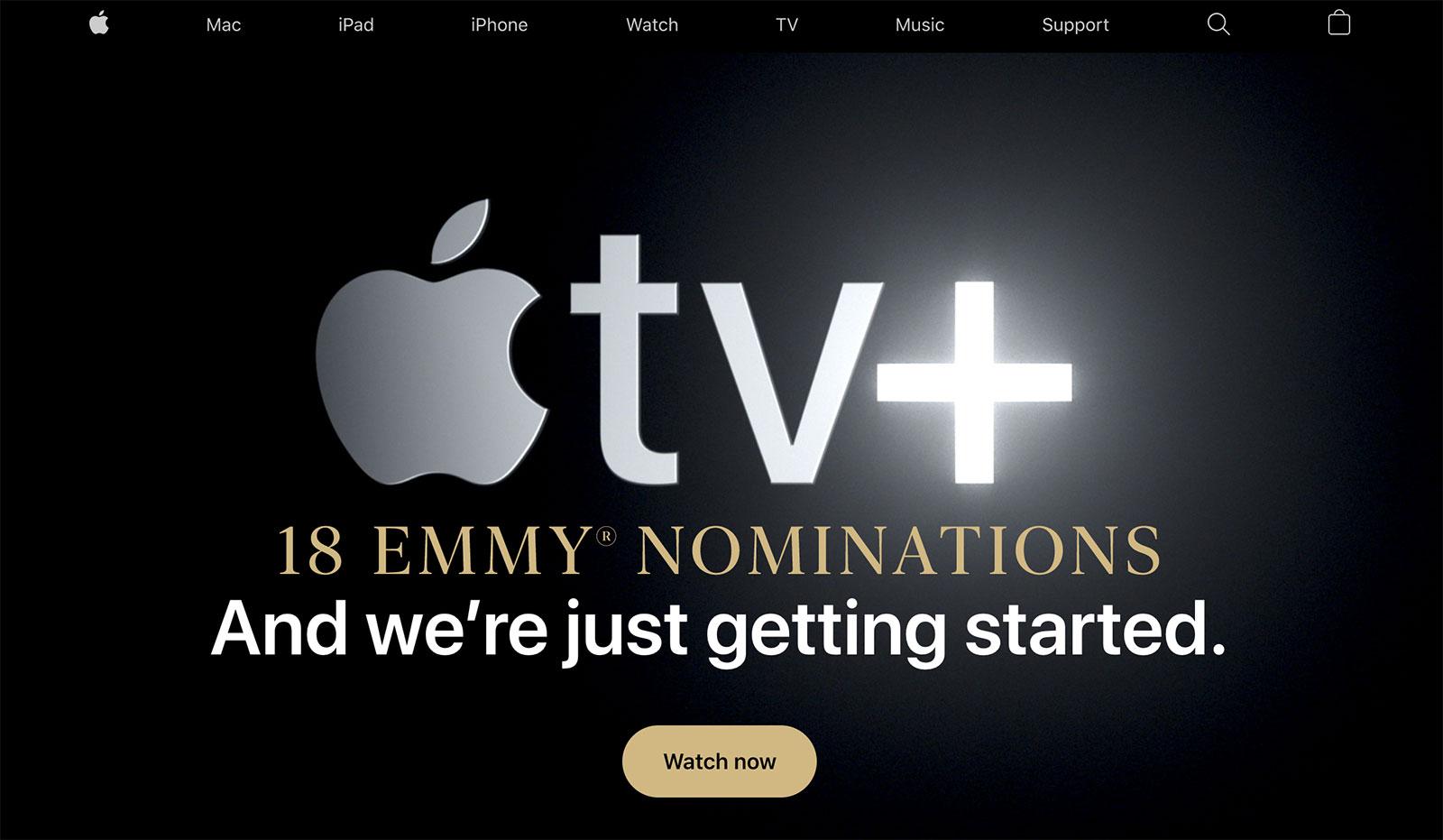 18 nominaciones Emmy en la web de Apple