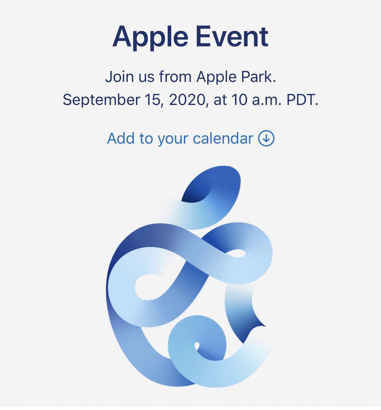 Evento de presentación del nuevo iPhone 12 el 15 de septiembre de 2020