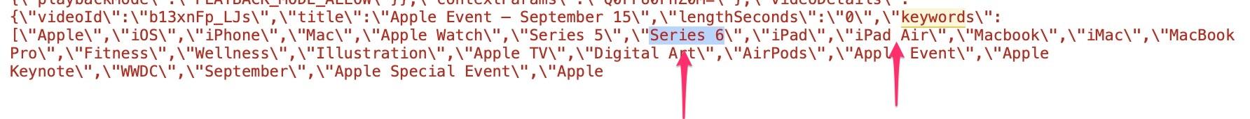 Menciones al Apple Watch Series 6