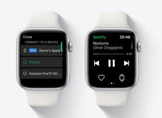 App de Spotify en el Apple Watch