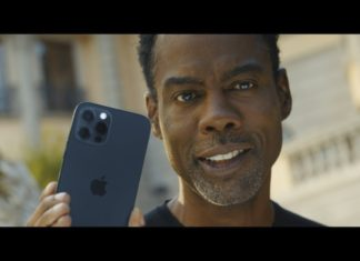 Chris Rock promocionando el 5G del iPhone 12