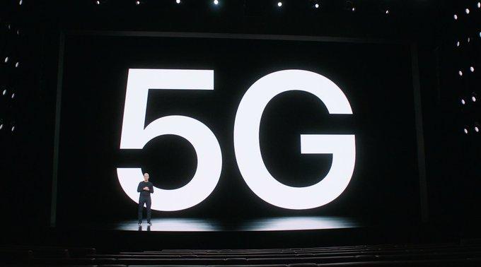 CEO de Verizon, Hans Vestberg, explicando el 5G en el evento de presentación del iPhone 12