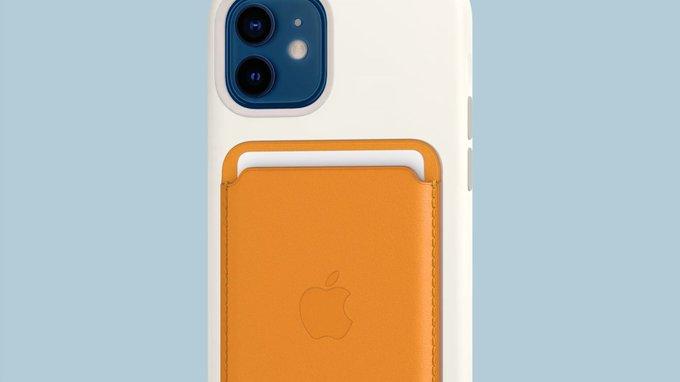 Portador de tarjetas que usa los imanes del iPhone 12
