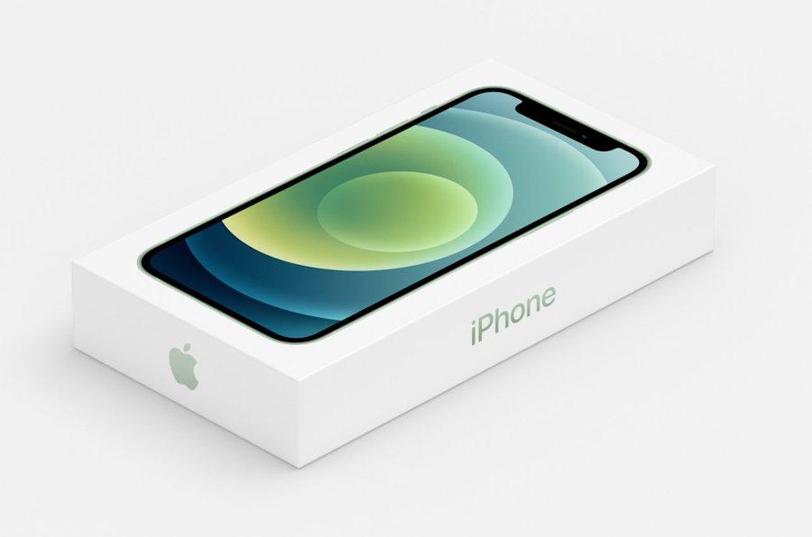 Caja del iPhone 12, mucho más pequeña