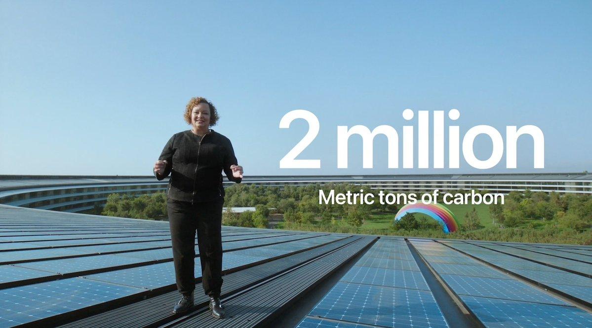 2 millones de toneladas métricas de emisiones de carbón que nos ahorramos no incluyendo el cargador del iPhone en su caja