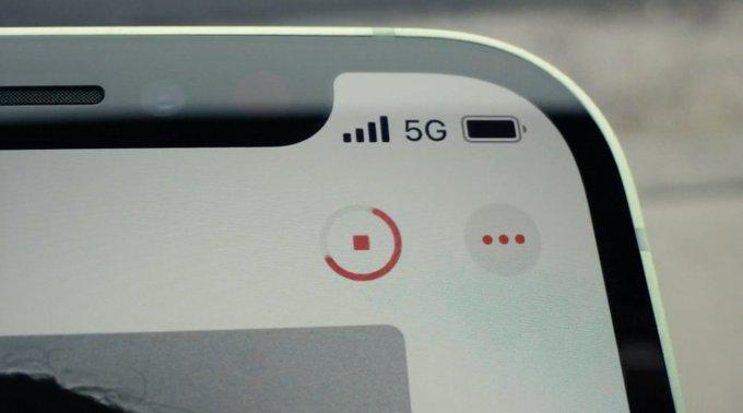 Conexión 5G en un iPhone 12