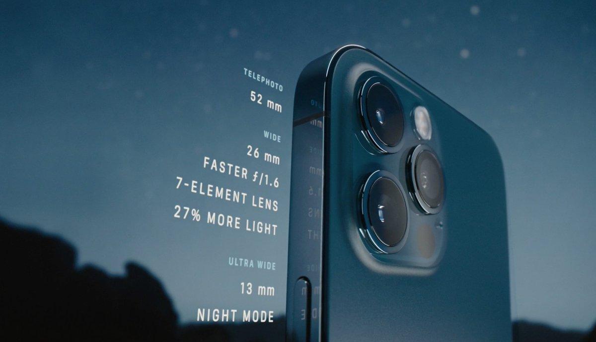 Especificaciones de la cámara del iPhone 12 Pro