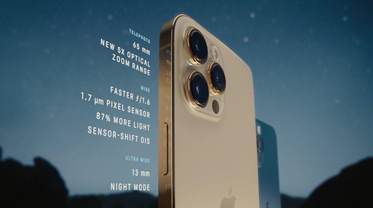 Especificaciones de la cámara del iPhone 12 Pro Max