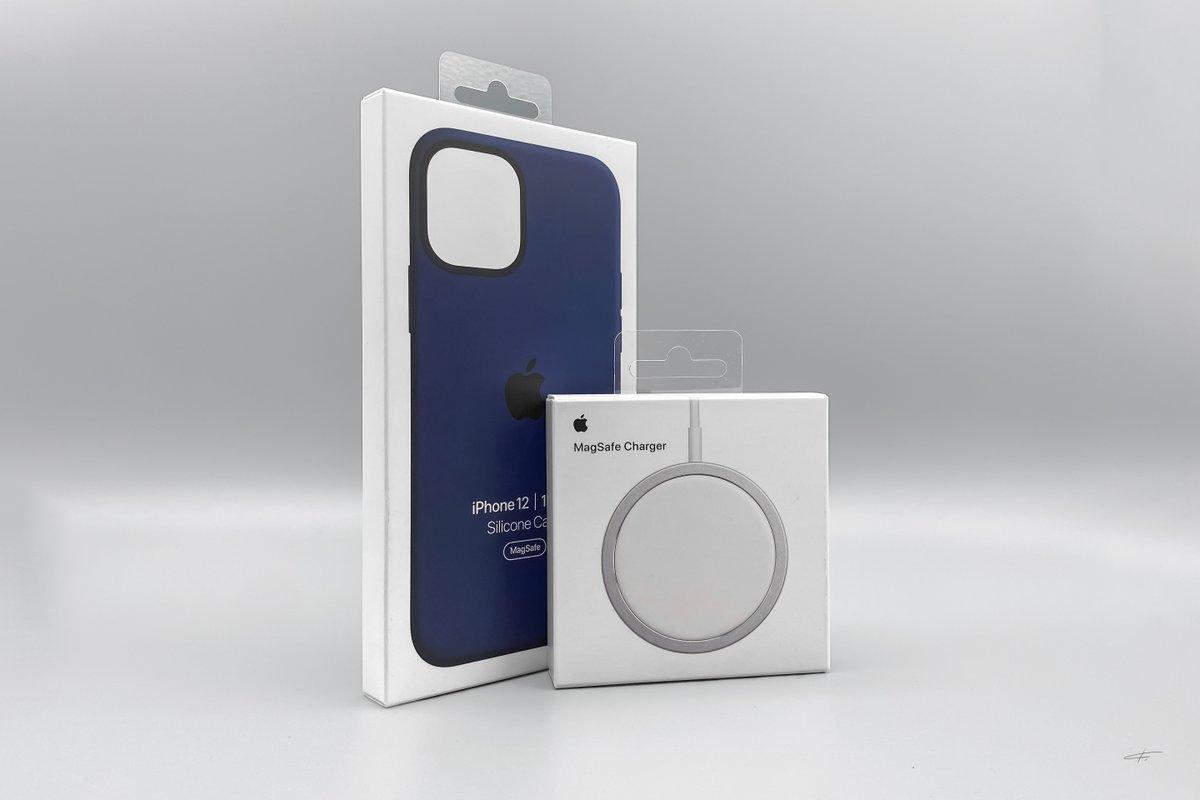 Funda con MagSafe para el iPhone 12 y el adaptador de carga inalámbrica