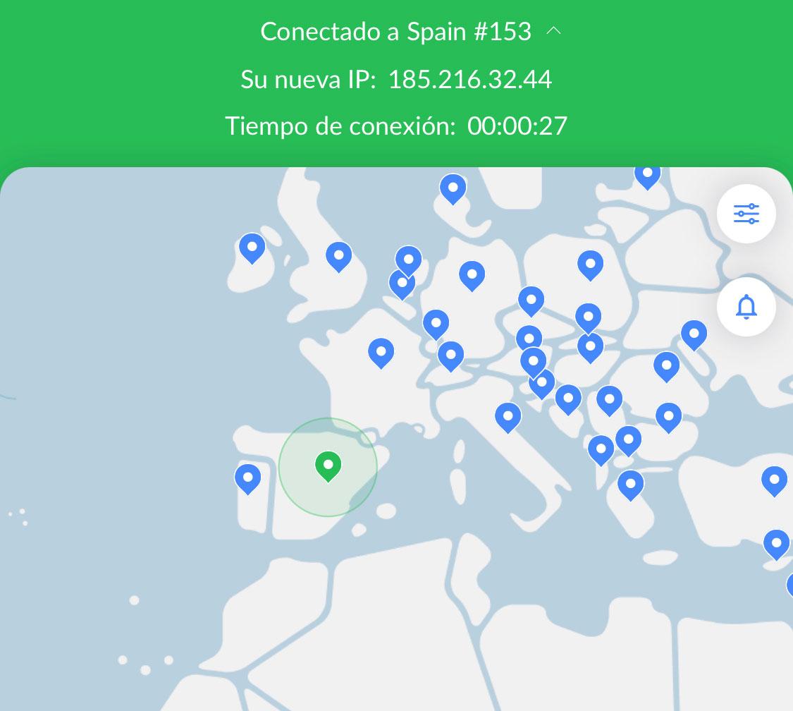 Conectando desde España con NordVPN