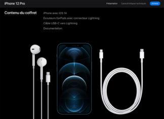 EarPods incluidos en la caja del iPhone 12 en Francia