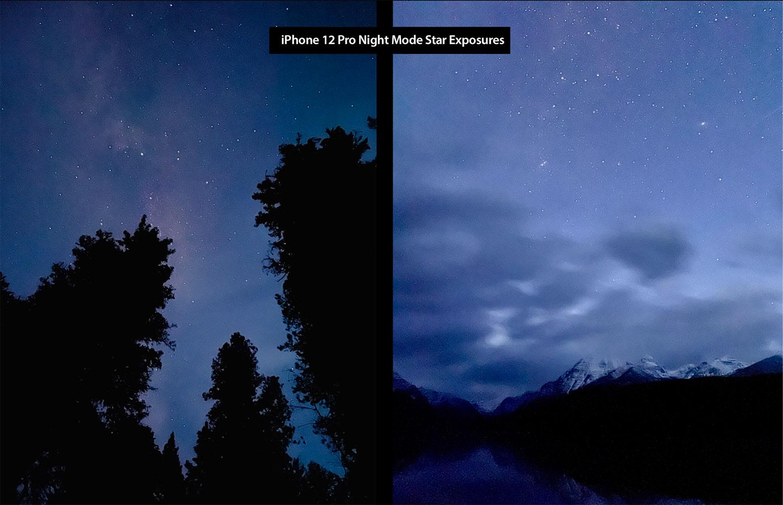 Foto de las estrellas hecha con un iPhone 12 Pro