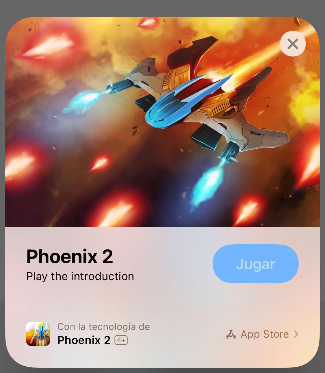 App Clip de la demo de un juego