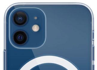iPhone 12 mini azul con funda MagSafe