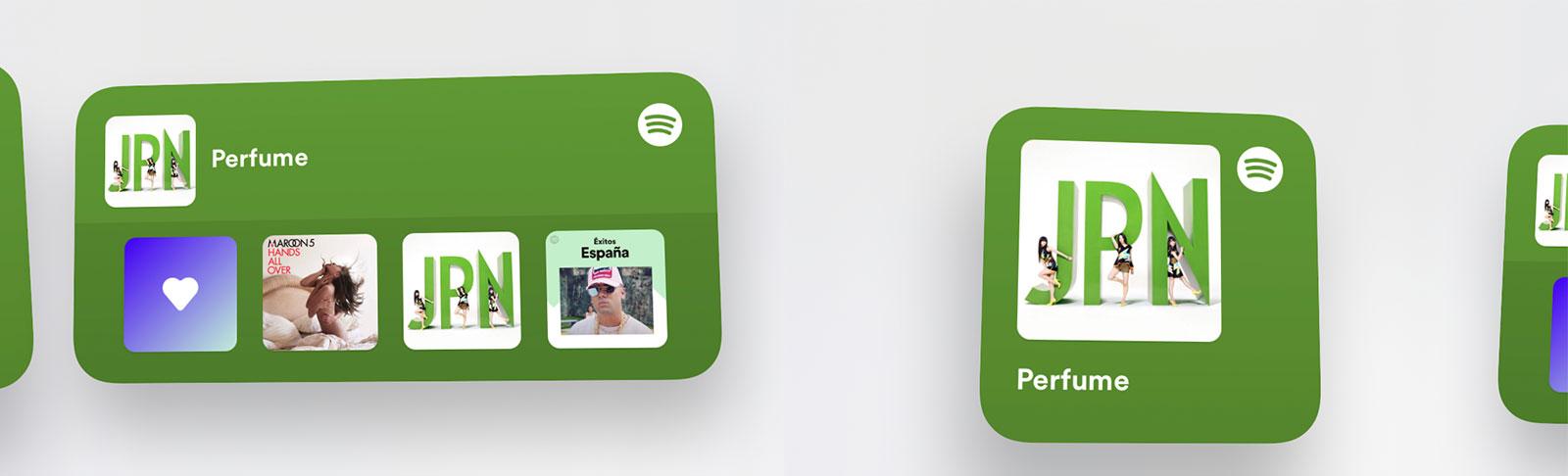 Widgets meramente informativos y por lo tanto inútiles de Spotify en iOS 14