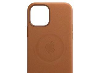 Funda de cuero de Apple con la marca de los imanes del sistema MagSafe