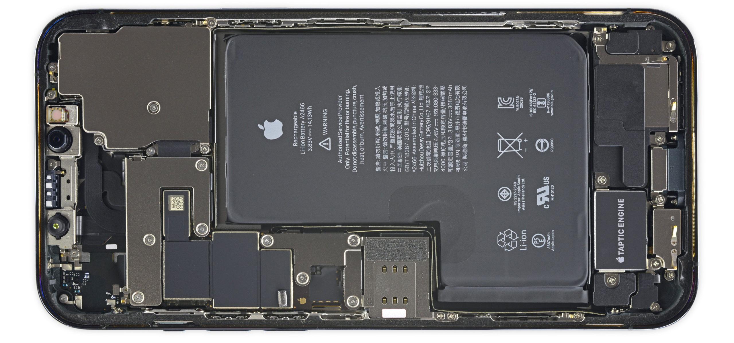 iPhone 12 Pro Max por dentro
