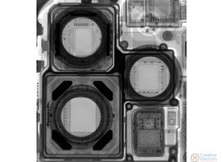 Módulos de cámara del iPhone 12 Pro Max vistos a rayos X