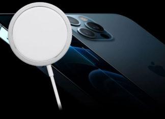 Cargador MagSafe de Apple y el iPhone 12 Pro