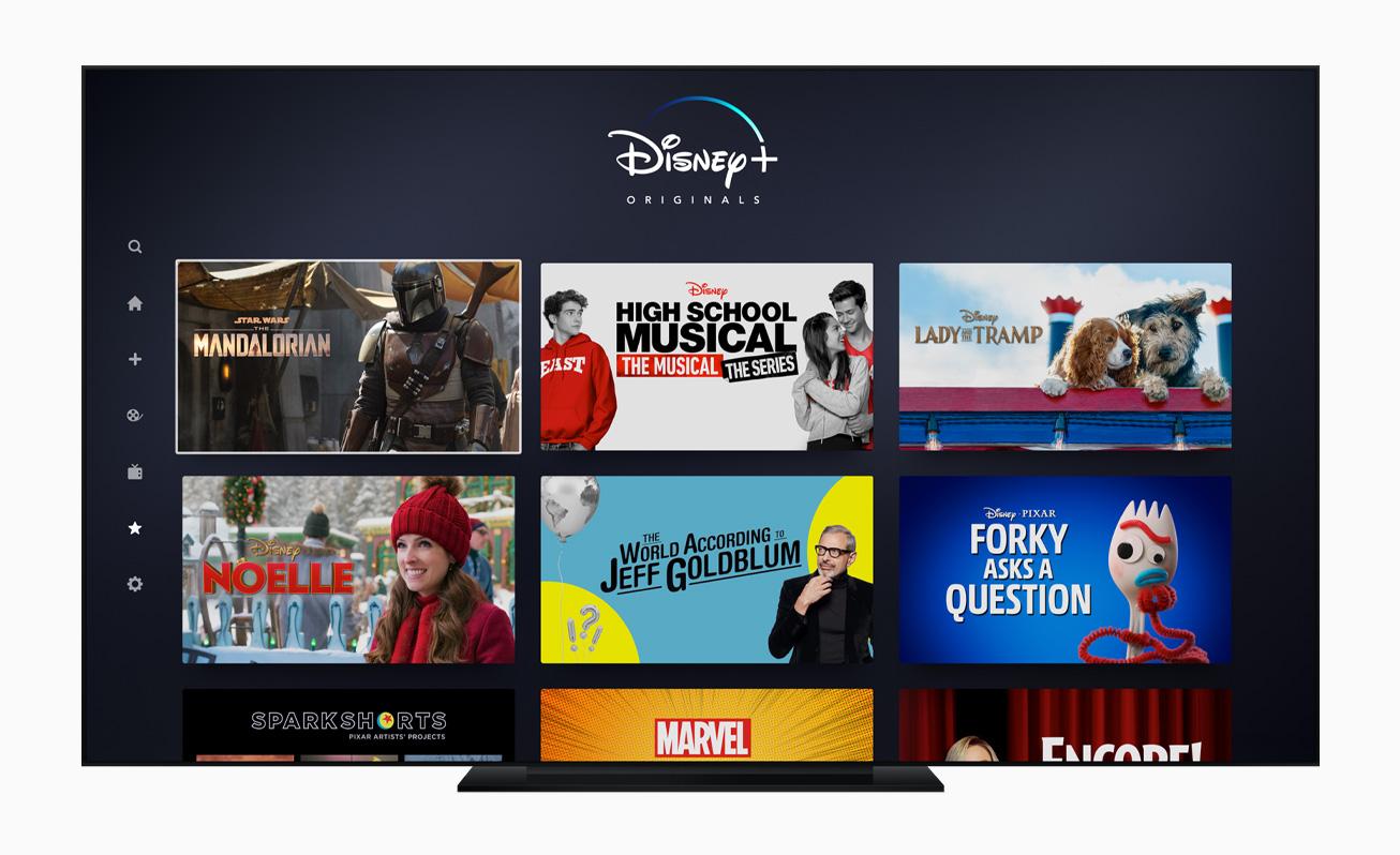 App de Disney+ en el Apple TV