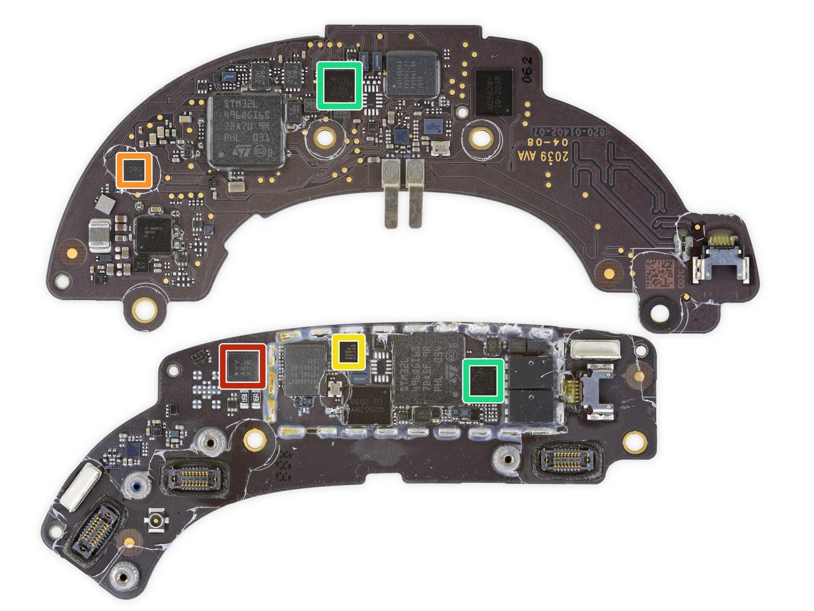 Placa base de los AirPods Max