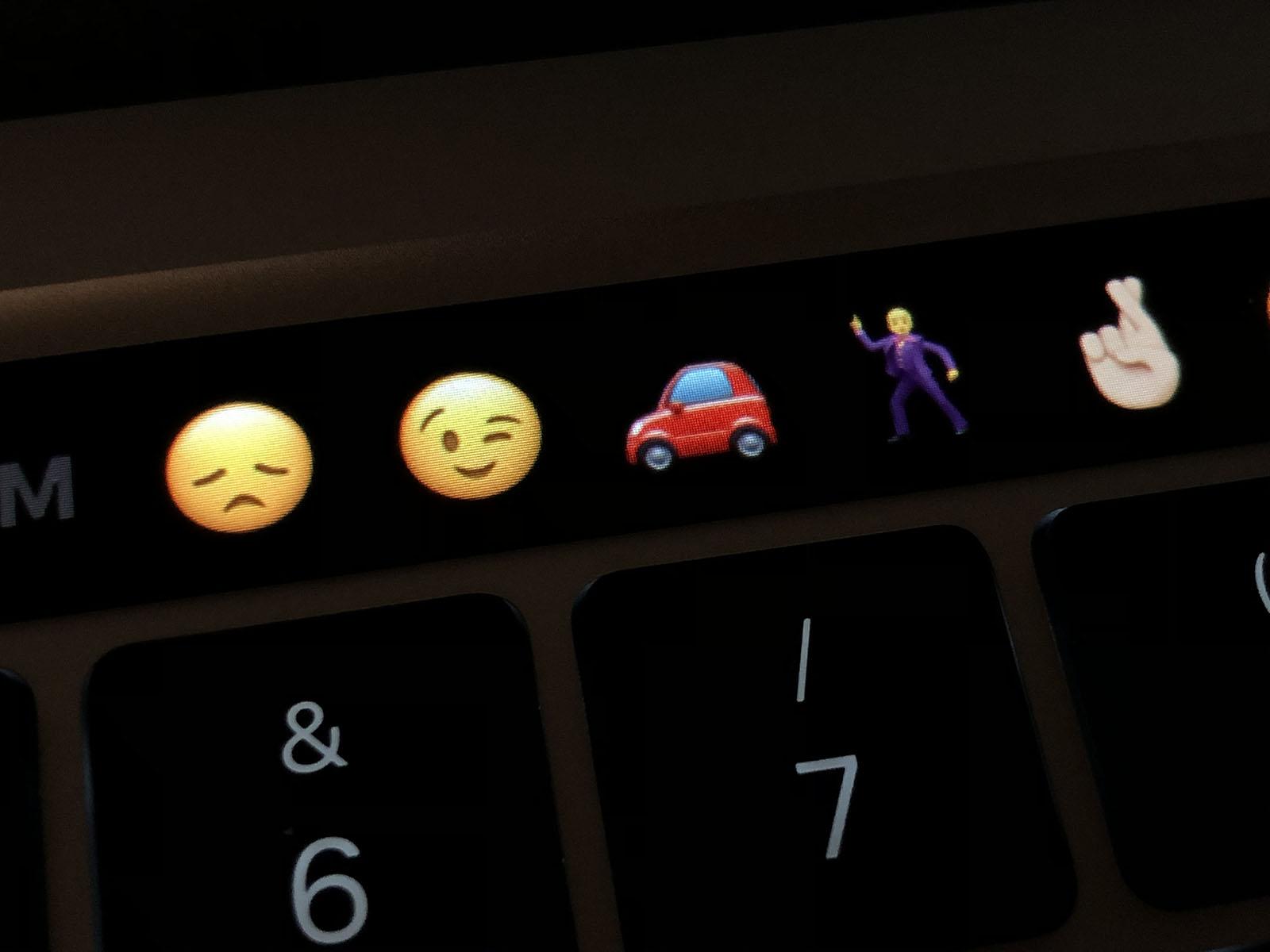Touch Bar en un MacBook Pro M1