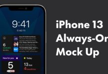 Concepto de diseño de iPhone con pantalla Always On