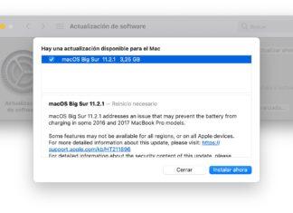 Actualización a macOS 11.2.1
