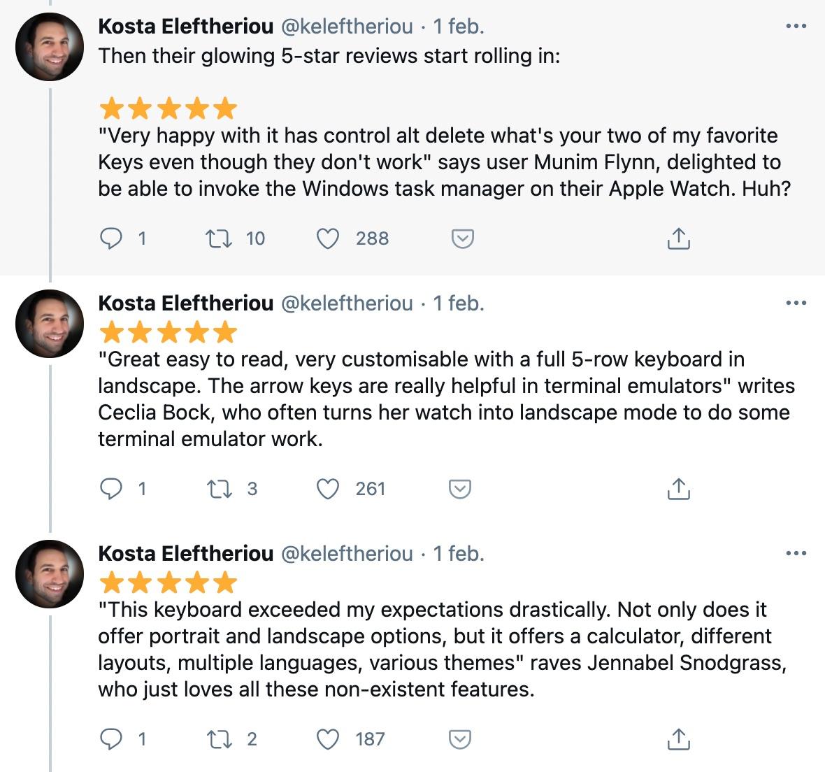 Reseñas falsas destacadas por Konsta  Eleftheriou