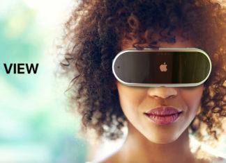 Concepto de diseño Apple View, gafas de realidad mixta aumentada o virtual de Apple