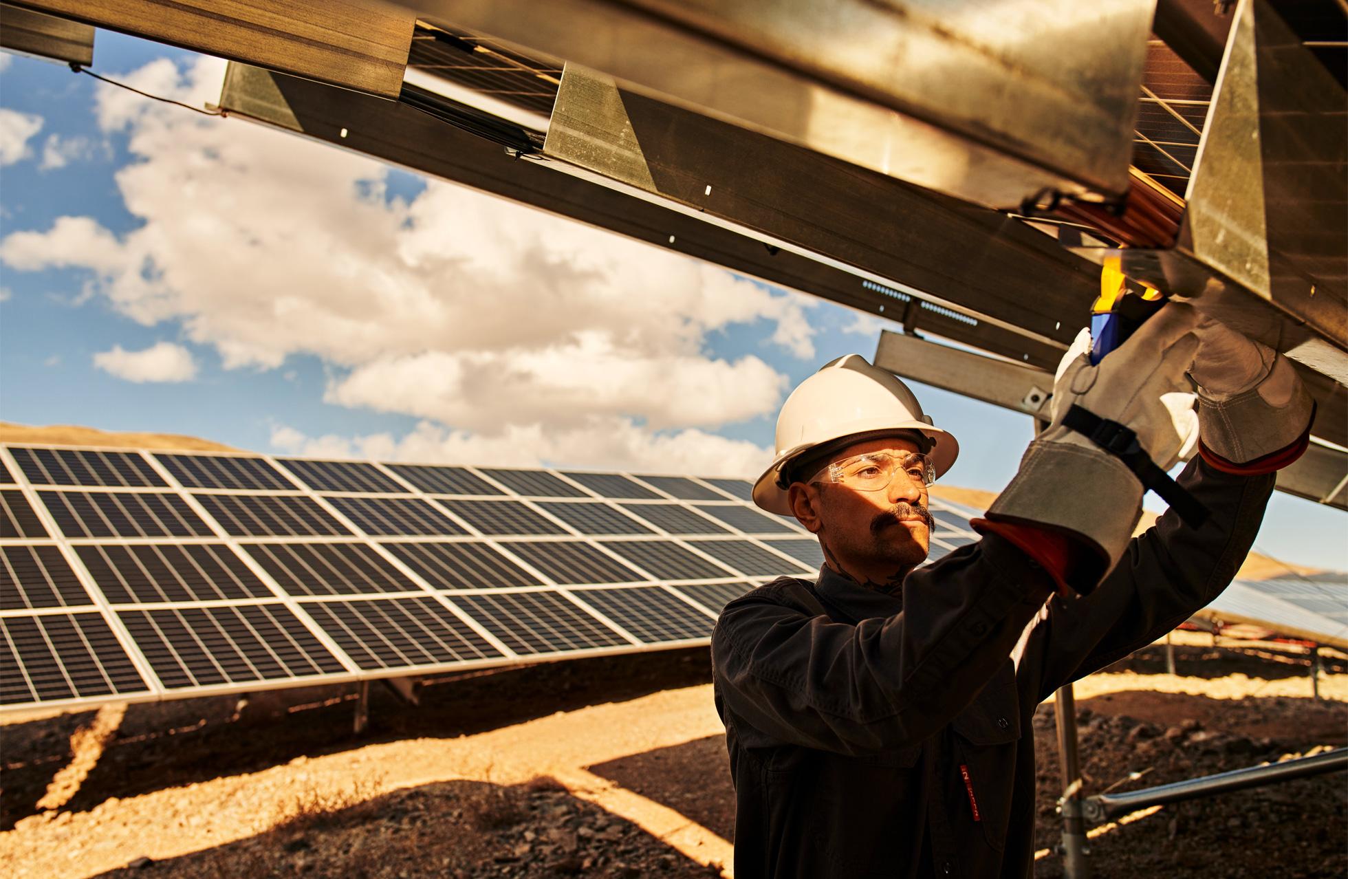 Granja solar de Apple en Turquoise, Nevada