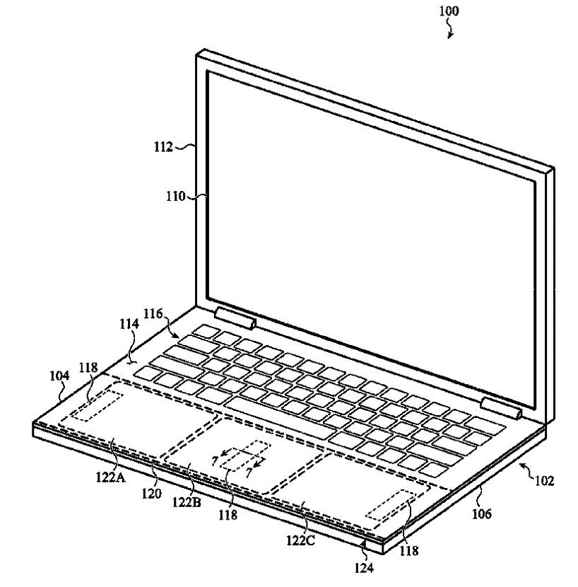 Patente de Apple que muestra feedback háptico fuera del touchpad