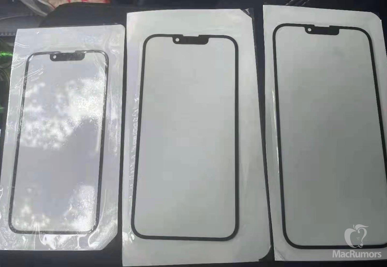 Supuesto panel frontal del iPhone 13