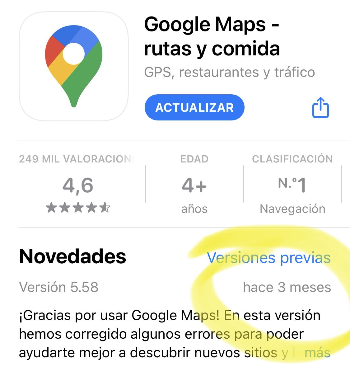 Google Maps lleva sin actualizarse más de tres meses debido a la información de privacidad