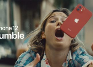 iPhone cayéndose o a punto de caerse, pero no pasa nada, porque tiene un escudo cerámico