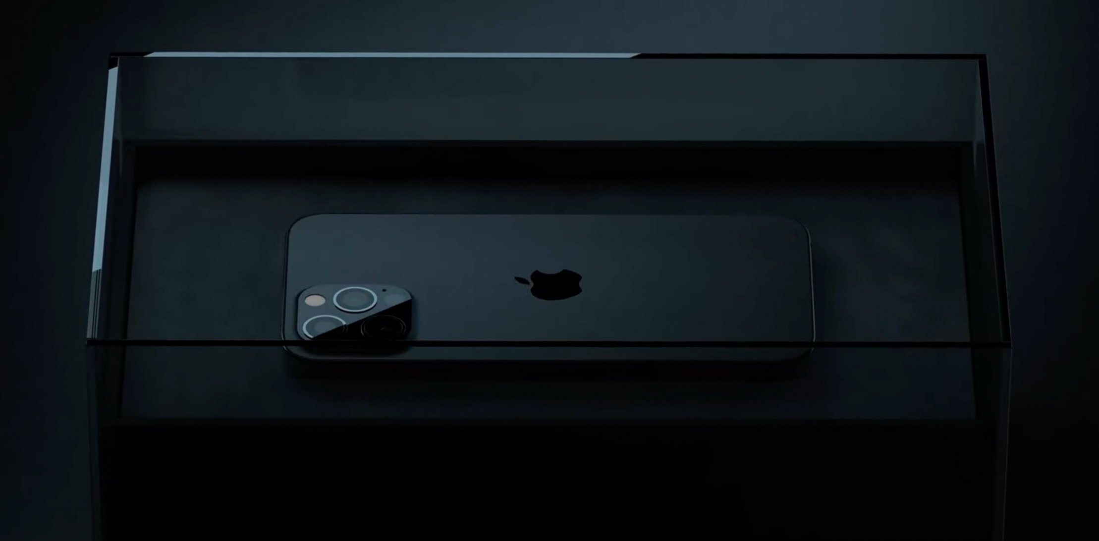 Concepto de diseño de iPhone 13 en negro mate