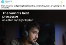 Publicidad de Intel en donde utilizan un MacBook